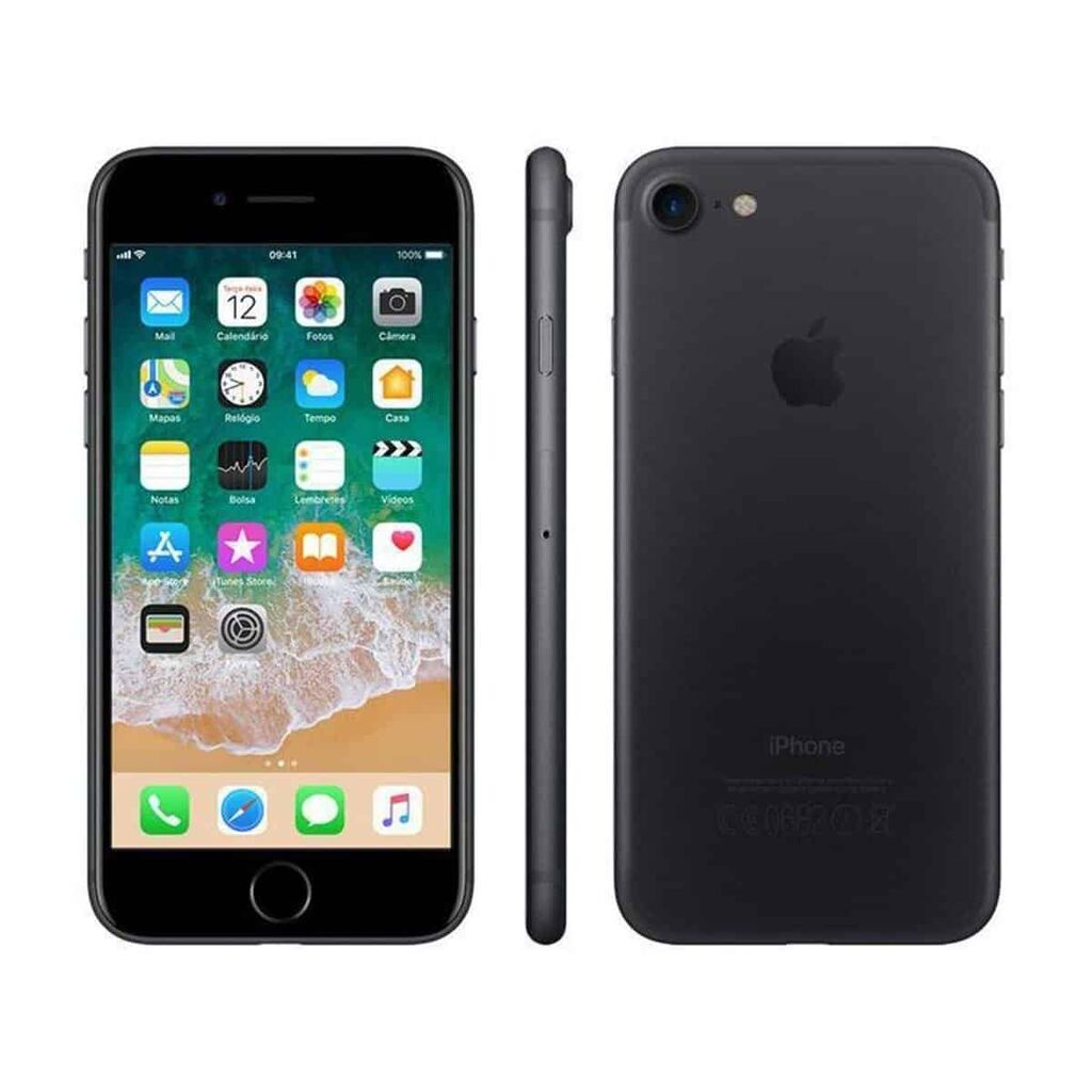 "iPhone 7 Apple 128GB Preto Matte 4G Tela 4.7"" – Preto e Cinza"