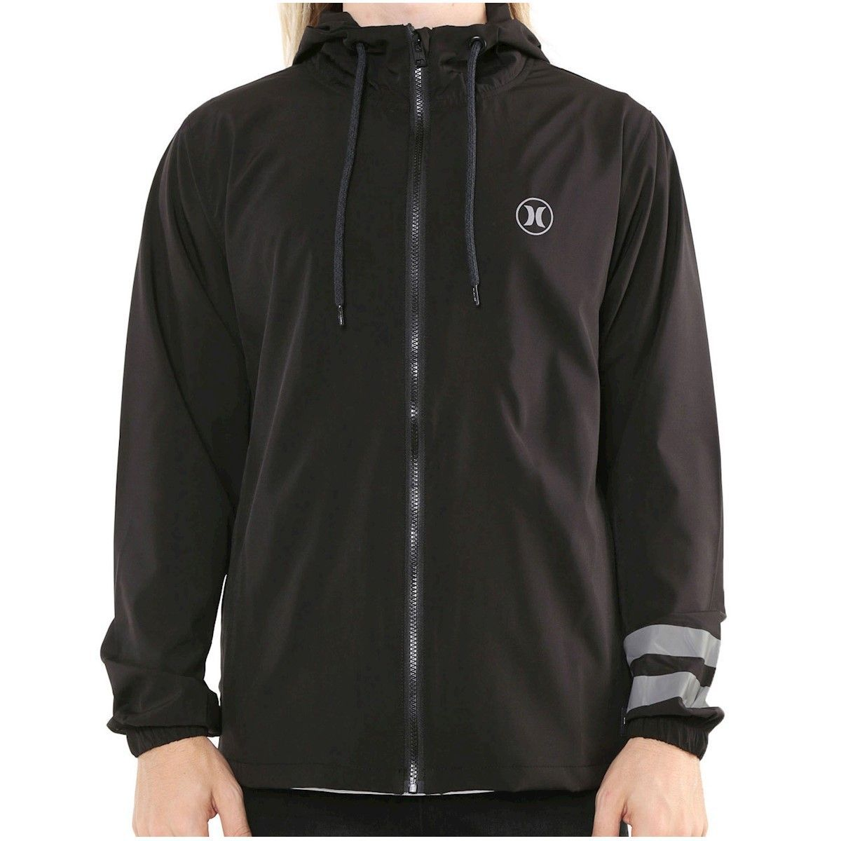JAQUETA CORTA VENTO HURLEY WINDBREAKER BLOCK PARTY COM 17% OFF