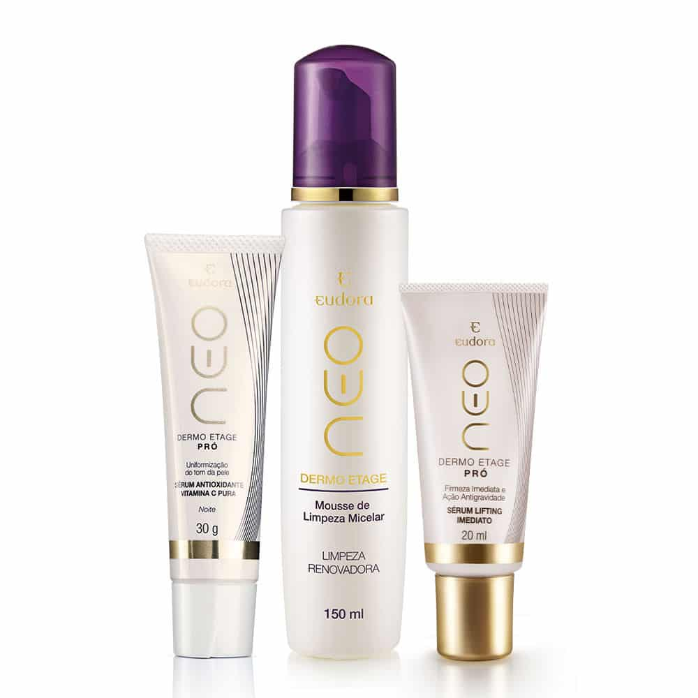 Kit Neo Dermo Etage Mousse De Limpeza + Sérum Lifting + Vitamina C
